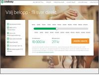 Credway - Onlinekredit från 1 000 kronor upp till 30 000 kronor