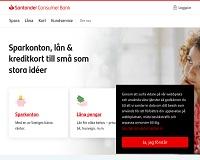 Santander - Privatlån från 10 000 kronor - 350 000 kronor i 12 år